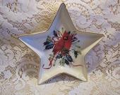 Lenox Winter Greetings Star Shape Dish, Cardinal Design