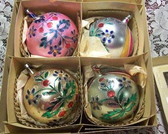 Four Jumbo Made in Poland Chriatmas Ornaments