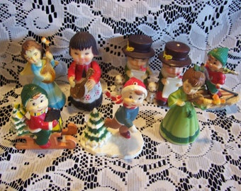 Eight Assorted Christmas Figures
