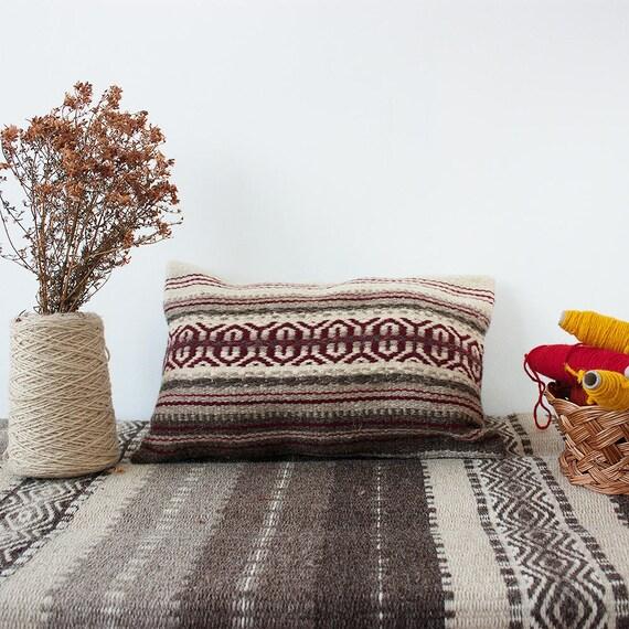 Coussin décoratif, coussin fait main, kilim coussin, coussin tissé à la main, coussin bohème, coussin tribale