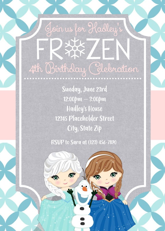 photograph about Frozen Invitations Printable known as Frozen invite, Frozen invitation, Frozen birthday invite. frozen birthday celebration, frozen people, frozen birthday bash, frozen, printable