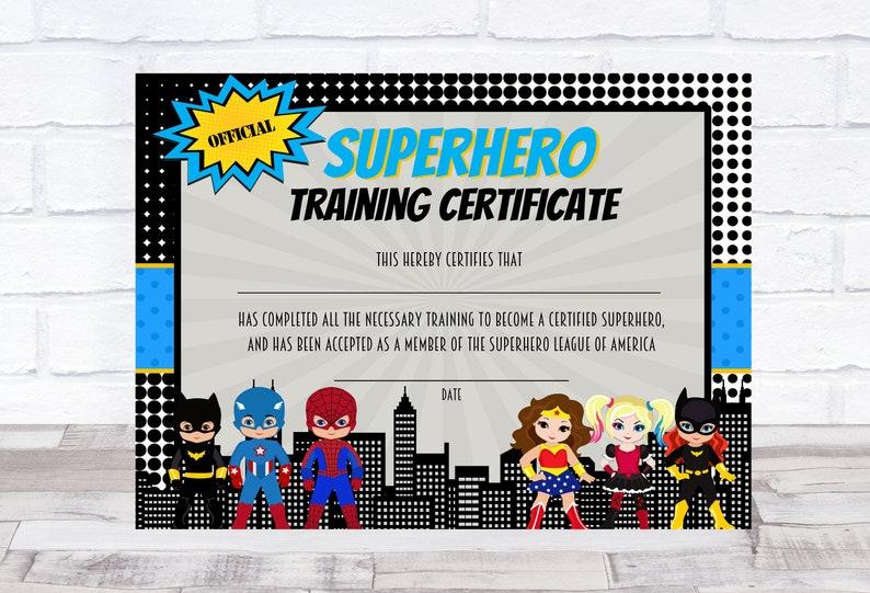 picture regarding Superhero Certificate Printable identify Superhero Certification, Superhero printable, Superhero Doing exercises Certification, Superhero birthday, Superhero Celebration Prefer, Printable