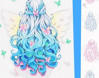Coloring-Page-Bundle: Dream Hair
