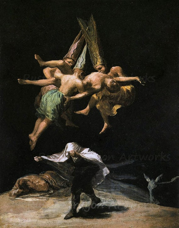 ARTCANVAS The Witches Flight 1798 Canvas Art Print by Francisco De Goya