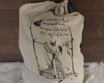 Linen Travel Laundry Bag