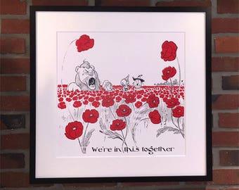 Poppy Field Poster Print