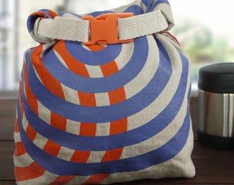 Roll-top Linen Lunch Bag