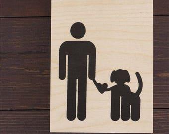 Dog Love - Wood Print