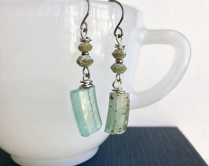 Featured listing image: Recycled glass earrings