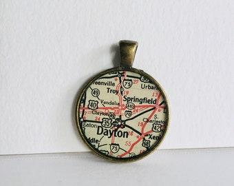 Dayton, OH Map Pendant