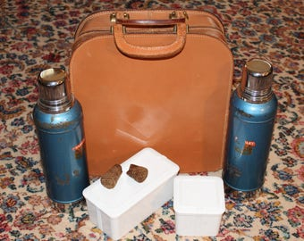Vintage Stanley Super Vac Thermos Set