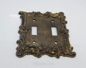 Vintage Brass Metal Light Switch Plate