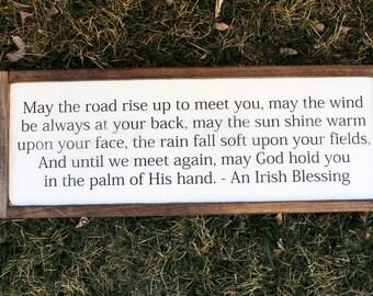 An Irish Blessing FARMHOUSE SIGN