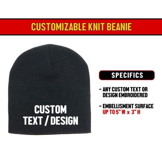 dbe7b93059292 Custom Beanie / personalized beanie / classic beanie / knit beanie / cuff  beanie / embroidered