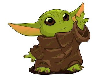Baby Yoda Svg Etsy