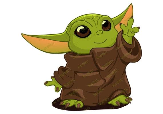 Baby Yoda Svg Printable Bundle Child Mandalorian Baby Svg Etsy