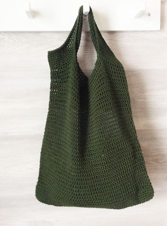 Crochet bag PECAN Cotton Mercerized Tote Bag Crocheted Market Bag Beach Crochet Accessories Gift Greeting Cards Women Reusable Teenager