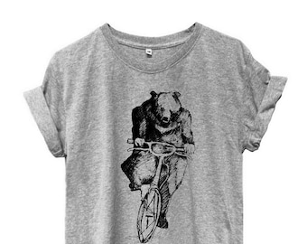 Bear  tshirt workout tshirt workout tops short sleeve tshirt bear Top tumblr clothes women graphic Top trending funny quote top