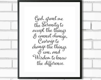 Serenity Prayer - Digital Print