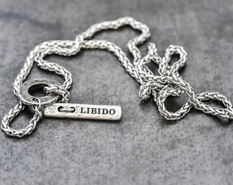 Mens silver necklace etsy mens necklace necklace for men mens necklace chain mens silver necklace mens jewelry mens gift jewelry men necklace charm necklaces aloadofball Image collections
