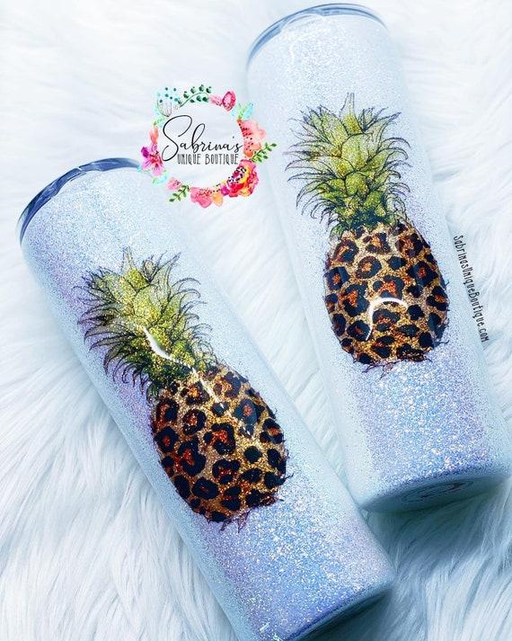 Pineapple Fruit Tumbler Glitter