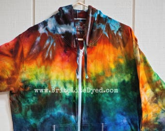 6ace487b Women's Jacket 2XL - Yoga - Women's Clothes - Women's Jacket - Women's  Sweater - Cotton Jacket - Festival - Tye Dye - Tie Dye - Spring