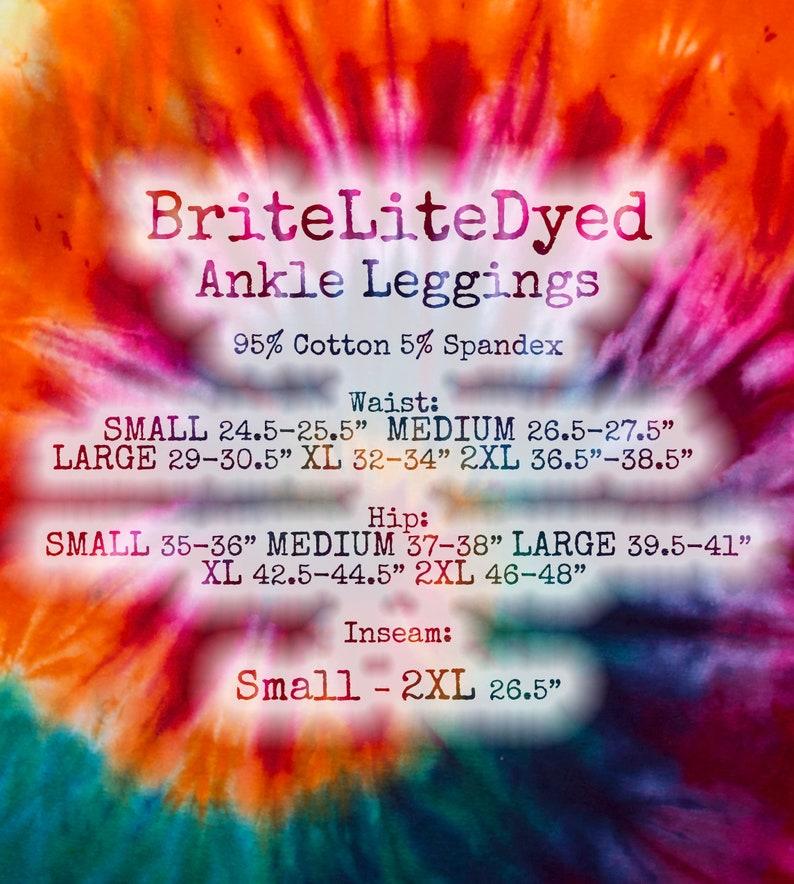Ankle Legging Ladies Ice Dyed Yoga Leggings SMALL Fall Womens Clothing Birthday Gift Womens Tie Dye Leggings Hippies