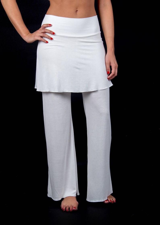 b02cdbf23d114d Pantalon Navajo - OFF pyjama blanc - pantalon jupe, tissu en bambou,  pantalon souple, confortable sentir pantalon, fibres naturelles, vêtements  de ...