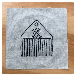folk magic embroidered patch Intuition talisman patch witchy patch water witch