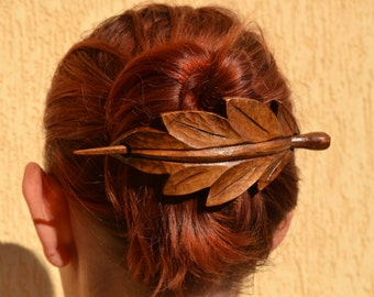 Valentine's gift womens gift, Hair Stick Womens Gift Fall fashion accessories Floral hair piece, Mom Gift, Wife gift  Autumn leaf