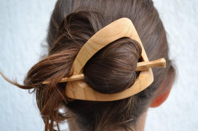 Wooden shawl pin Women gift  Shawl stick