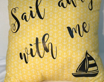 Decorative Pillow Sail Away Yellow