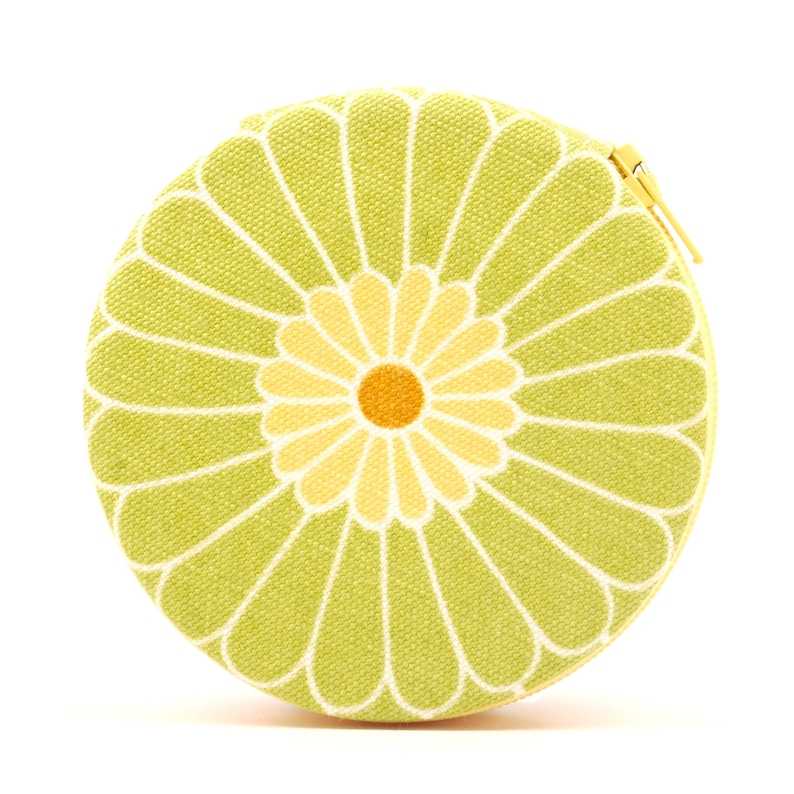 Citrus Green Fun Flower Designer Round Zippered 7-Day Travel image 0