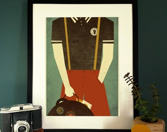 Northern Soul Boy Limited Edition Illustration Print