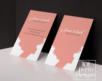 Hair business cards etsy hair stylist business card template printable business card design pink business card hairdresser business cards appointment calling card colourmoves
