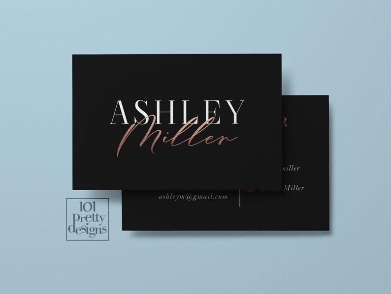 Styliste Carte De Visite Imprimables Or Rose