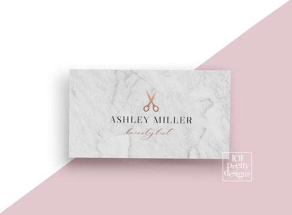 Marmor Visitenkarte Rose Gold Folie Visitenkarte Entwurf Druckbare Visitenkarte Rosa Und Gold Visitenkarte Haar Stylist Friseur