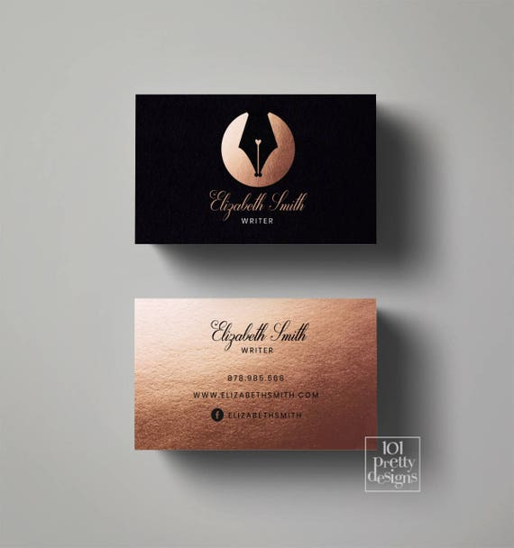 il_570xn - Rose Gold Business Cards