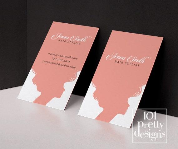 Haar Stylist Visitenkarte Vorlage Druckbare Visitenkarte Entwurf Rosa Visitenkarte Friseur Visitenkarten Termin Visitenkarte