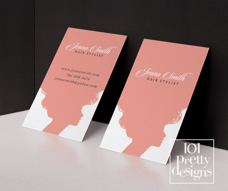 Cheveux Styliste Carte De Visite Modele Imprimable