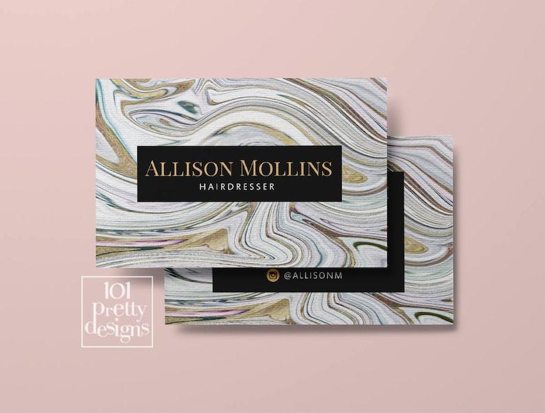 Carte De Visite Moderne Design Imprimer