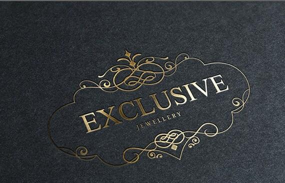Exclusive premade logo design, elegant custom logo template
