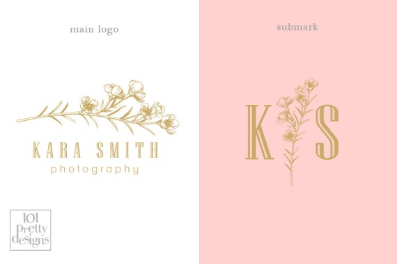 Floral Logo Design Botanical Logo Graphic Design Branding Modern