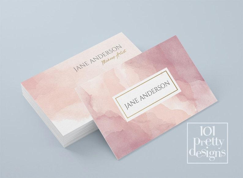 Aquarelle Carte De Visite Modele Pastel Imprimer