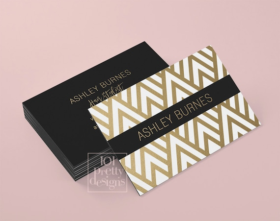 Golden business card template art deco business card design gold il570xn accmission Image collections
