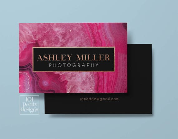 Gemstone business card design pink blue agate business card etsy image 0 reheart Image collections
