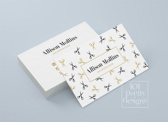 Hairdresser Business Card Design Golden Business Card Template