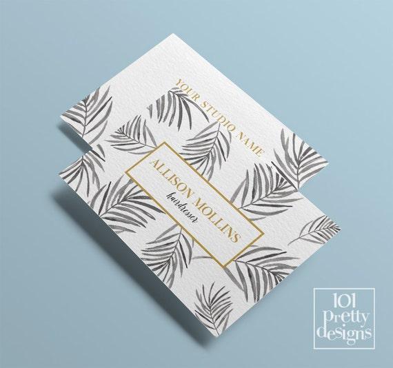 Floral Business Card Design Custom Business Card Black Gold