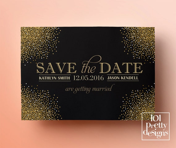 printable save the date template gold glitter save the date design