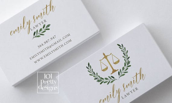 Golden Business Card Lawyer Business Card Design White Marble Etsy